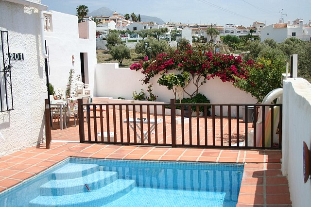 Townhouse private pool and beautiful terraces for sale area of La Noria in Nerja